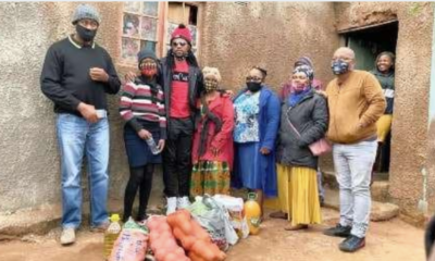 Sbu From Uzalo Giving Out Bags and Food Donations,This is so lovely